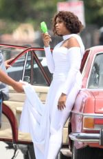 Jennifer Hudson Is spotted as she films a music video in South Los Angeles