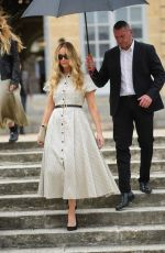 Jennifer Lawrence Outside Dior, during Paris Fashion Week - Haute Couture Fall/Winter 2021/2022