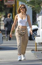 Jennifer Lopez Shows off her midriff while out in Beverly Hills