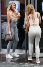 Jess & Eve Gale Look hot in skin tight workout gear at global radio in London