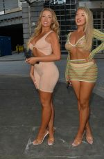 Jess & Eve Gale Seen heading for a night out with friends at Cloud 9 roof bar in London