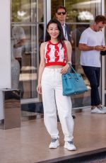 Jessica Wang Spotted at the Martinez Hotel during the 74th Cannes Film Festival