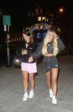 Joanna Chimonides & Kady Mcdermott Pictured arriving at ME Hotel in London