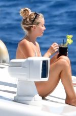 Julianne Hough Vacationing with her family off the Amalfi Coast in Italy