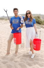 Katharine McPhee At Cleanup with World Surf League Pure and Wildcoast at Zuma Beach in Malibu