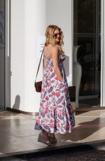 Katheryn Winnick Is spotted posing in a patterned summer dress at the Martinez Hotel during the 74th Cannes Film Festival