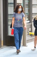 Katie Holmes Steps out in New York City in casual pajama fashion