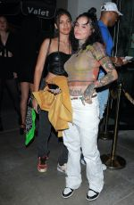 Kehlani Flaunts her tones abs as she strikes a pose outside Catch LA in West Hollywood