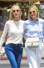 Kelly Rutherford Takes her look-a-like mom shopping in Beverly Hills