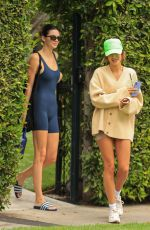 Kendall Jenner and Hailey Bieber leaving to Pilates in West Hollywood
