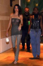 Kendall Jenner Seen heading to Delilah grand opening in see thru dress in Las Vegas