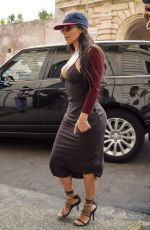 Kim Kardashian Spotted leaving her hotel in Rome, Italy