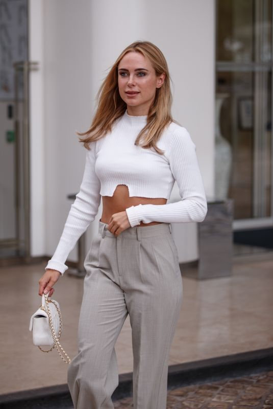 Kimberley Garner Seen at the Martinez Hotel during the 74th Cannes Film Festival