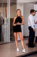 Kimberley Garner Spotted in a black backless minidress at the Martinez Hotel during the 74th Cannes Film Festival