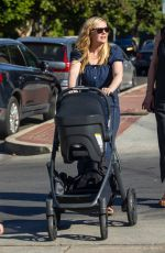 Kirsten Dunst Spotted out with her two kids and some family members for an early Italian dinner in Toluca Lake