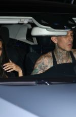 Kourtney Kardashian Attempts to lay low while leaving Jaden Hossler's concert with Travis Barker in Wets Hollywood