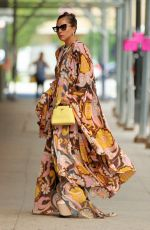 Lady Gaga Arrives at Highline Stages in a maxi dress in New York