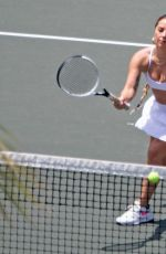 Lady Gaga Having a tennis session while on a weekend getaway