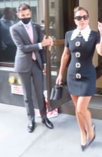 Lady Gaga Wears a black mini dress while heading for rehearsal with Tony Bennett in New York