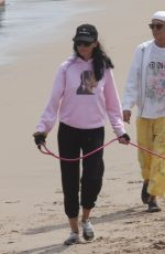 Liberty Ross And her husband Jimmy Iovine enjoy a sunny stroll along a beach in Malibu with their dogs