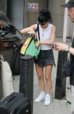 Lily Allen Embraces the capitals heatwave in tiny denim shorts arriving on set of BBC The One Show
