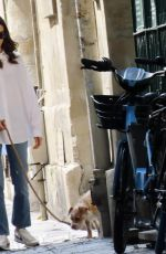 Lily Collins Out with Redford in Paris