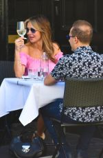 Lizzie Cundy Pictured on a lunch date with ITV Producer in London