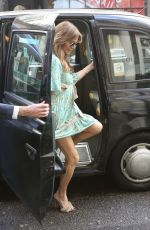 Lizzie Cundy Spends the evening at The Arts Club in Mayfair, London
