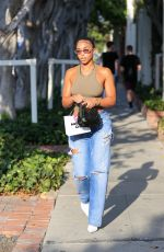 Lori Harvey Treats herself to a pampering session on Melrose Place in West Hollywood