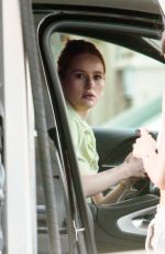 Madelaine Petsch At a gas station in Hollywood