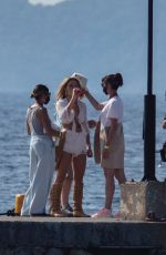 Madelyn Cline On the set of Knives Out 2 in Greece
