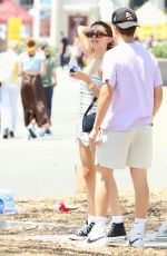 Madison Beer At the flea market with boyfriend and friends in Los Angeles