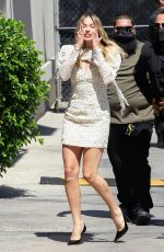 Margot Robbie Outside the Jimmy Kimmel Live studio in Hollywood