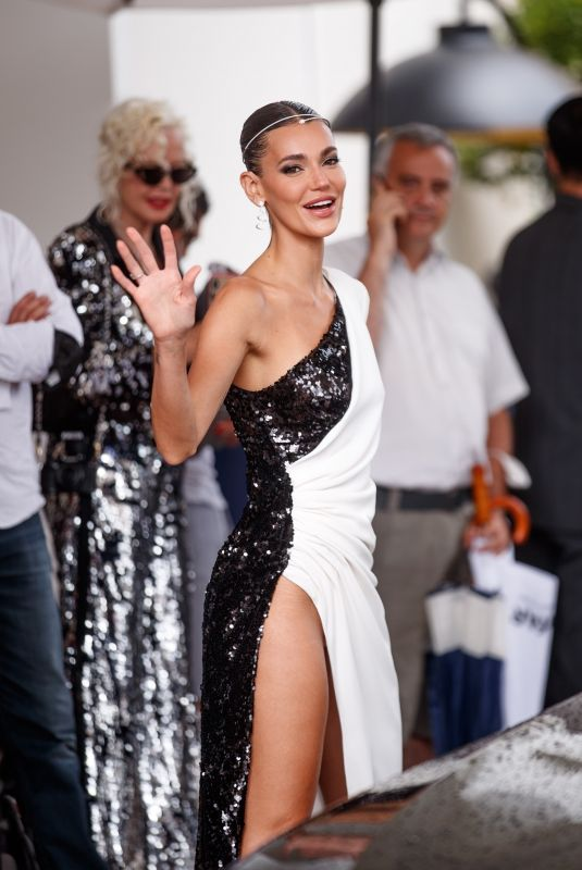 Mari Fonseca Spotted at the Martinez Hotel during the 74th Cannes Film Festival