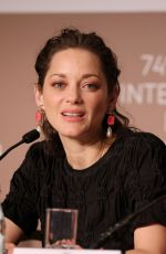 Marion Cotilard Attending the Annette press conference during the 74th annual Cannes Film Festival in France