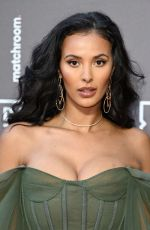 Maya Jama Attends the Dazn x Matchroom VIP Launch Event at Kings Cross in London