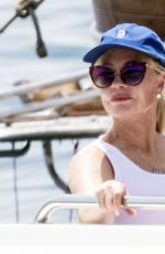 Melanie Griffith On a swim out in the warm Italian waters on her holiday in Nerano