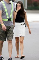 Mila Kunis and Connie Britton on set of