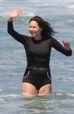 Minnie Driver Showcases her toned physique during a beach day in Malibu