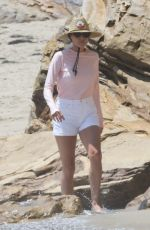 Minnie Driver Was spotted out on the beach of Malibu