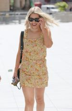 Mollie King Looks sensational as she exits BBC studios in a tiny summer dress and sunglasses in London