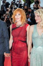 """Mylene Farmer Attends the """"Annette"""" screening and opening ceremony during the 74th annual Cannes Film Festival in Cannes, France"""