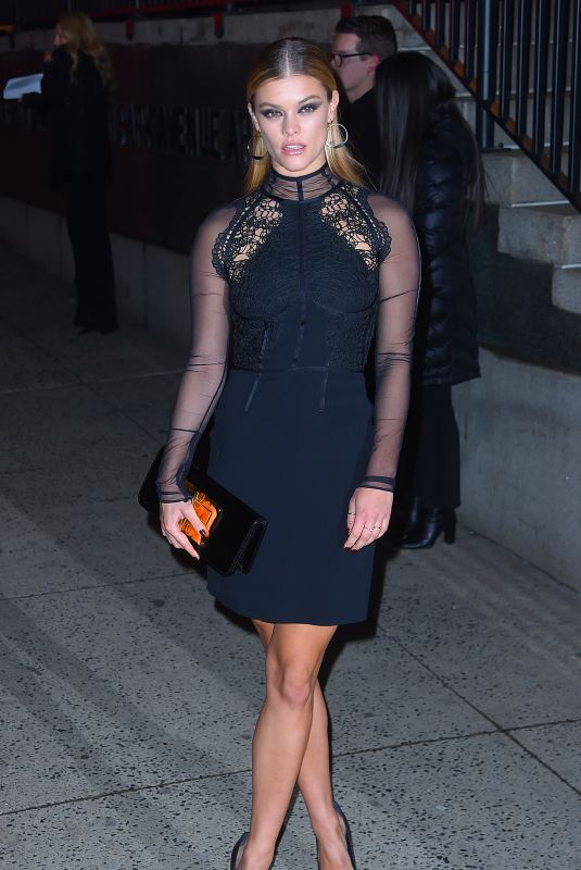 Nina Agdal and boyfriend Jack Brinkley-Cook stop by the Tom Ford show in NY