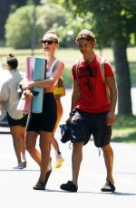 Nina Agdal Heading to a Yoga Class in The Hamptons New York