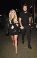 Paige Turley Seen arriving at Demi Jones Birthday Party Night out at Impossible in Manchester