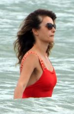 Penelope Cruz Enjoys a day out on the beach in Fregene, Italy
