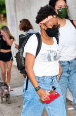 Phoebe Robinson is seen arriving to her comedy show during the
