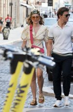 Pixie Lott And boyfriend Oliver Cheshire in Rome
