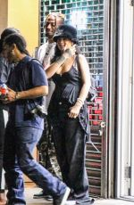 Rihanna Spotted leaving late at night from a recording studio in downtown New York