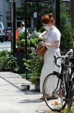 Rose Leslie Heads out for coffee in New York